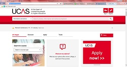 UCAS Website Homepage